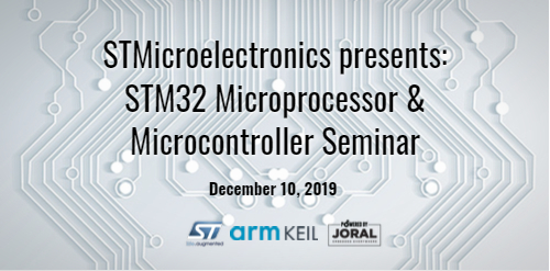 Joral at STMicroelectronics arm/KEIL event on December 10, 2019